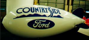 Advertising Blimps - Countryside Ford logo