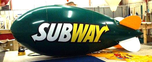 Advertising Blimp - 17ft. Subway Logo